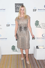 Chelsea Handler chose a champagne-colored dress with a beaded bodice for her look at 'An Unforgettable Evening.'