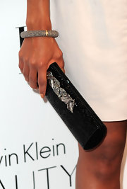 Kerry jazzed up her white dress with a Charlie clutch, complete with sparkles and rhinestones.