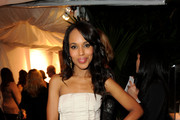 Kerry Washington Wears a Nude Strapless Dress
