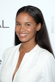 Joy Bryant wore her long hair straight with a center part when she attended the Elle Women in Hollywood celebration.