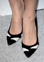 Lake Bell chose a pair of modern black-and-white Gianvito Rossi pumps for the Elle Women in Hollywood celebration.