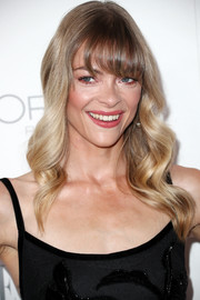 Jaime King showed off perfectly styled waves with eye-grazing bangs during Elle's Women in Hollywood celebration.