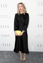 Tavi Gevinson was minimalist-chic in a long-sleeve black silk dress by Calvin Klein during Elle's Women in Hollywood celebration.