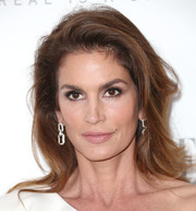 Cindy Crawford looked as gorgeous as ever with her long brunette locks during Elle's Women in Hollywood celebration.