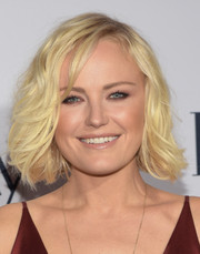 Malin Akerman styled her short platinum-blonde locks with piecey waves for the Elle Women in Television dinner.