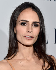 Jordana Brewster left her hair down in a straight, center-parted style when she attended the Elle Women in Television dinner.