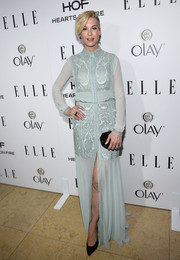 Jenna Elfman was a picture of elegance in an ethereal pastel colored gown at ELLE's Annual Women in Television Celebration.