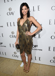 Jenna Dewan-Tatum chose a very sexy gold dress that clung perfectly at ELLE's Annual Women in Television Celebration.