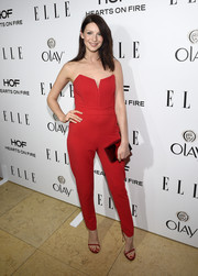 Caitriona Balfe really worked her red vintage jumpsuit at ELLE's Annual Women in Television Celebration.