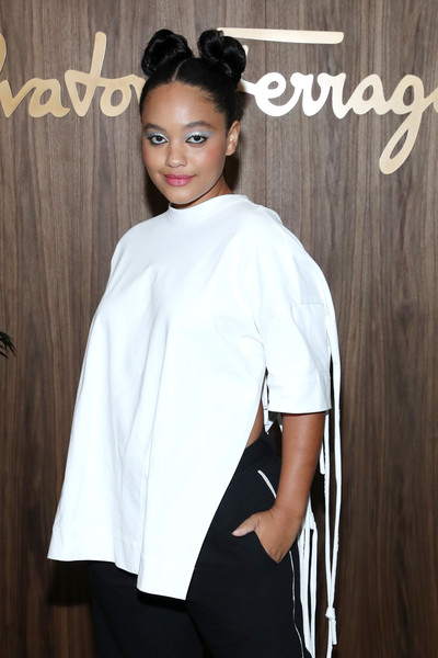 More Pics of Kiersey Clemons Loose Blouse (1 of 2) - Kiersey Clemons Lookbook - StyleBistro [white,clothing,beauty,shoulder,hairstyle,fashion,neck,sleeve,outerwear,lip,arrivals,kiersey clemons,west hollywood,california,elle,ferragamo toast hollywood rising,ferragamo hollywood rising celebration]