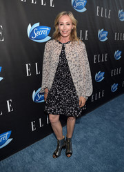 Lubov Azria went boho in a loose star-print dress by BCBG Max Azria for the Elle Women in Comedy event.