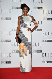 Tolula Adeyemi wore this unique silk print dress to the Elle Style Awards.
