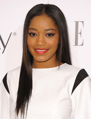 Keke Palmer polished off her look with a sleek center-parted 'do when she attended the Elle Women in Television celebration.
