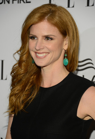 More Pics of Sarah Rafferty Red Nail Polish (1 of 8) - Sarah Rafferty Lookbook - StyleBistro