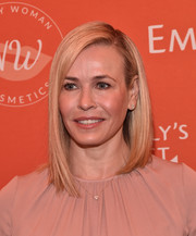 Chelsea Handler was stylishly coiffed with this asymmetrical lob at the Emily's List pre-Oscars brunch.