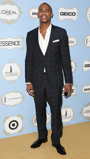Mehcad Brooks showed he's one stylish guy in a plaid blue suit at the Black Women in Hollywood Awards Luncheon.