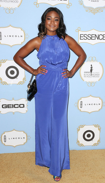 More Pics of Tatyana Ali Medium Curls (1 of 2) - Shoulder Length Hairstyles Lookbook - StyleBistro