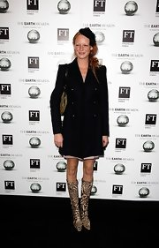 Olivia Inge showed off a stunning pea coat while hitting The Earth Awards Cocktail Reception.