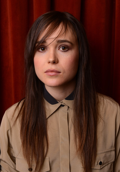 More Pics of Ellen Page Long Straight Cut with Bangs (1 of 7) - Ellen Page Lookbook - StyleBistro