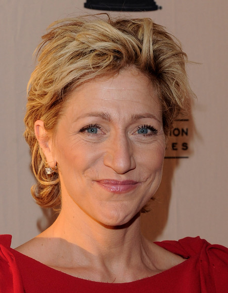 Edie Falco Messy Cut [nurse jackie,hair,face,hairstyle,eyebrow,chin,blond,forehead,head,lip,skin,edie falco,north hollywood,california,academy of television arts sciences]