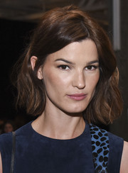 Hanneli Mustaparta looked pretty with her subtly wavy short 'do at the Edun Fall 2015 show.