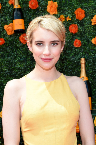More Pics of Emma Roberts Maxi Dress (1 of 5) - Dresses & Skirts Lookbook - StyleBistro [hair,orange,hairstyle,yellow,beauty,blond,lady,lip,dress,smile,red carpet arrivals,emma roberts,eighth,jersey city,new jersey,liberty state park,veuve clicquot polo classic]