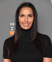 Padma Lakshmi kept it simple yet stylish with this straight layered cut at the Women in the World Summit.