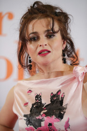 Helena Bonham Carter attended the premiere of 'Eleanor & Colette' in Essen, Germany wearing her signature messy updo.