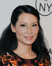 Lucy Liu wore her hair in a simple half-up half-down style at the 'Elementary' panel during PaleyFest.