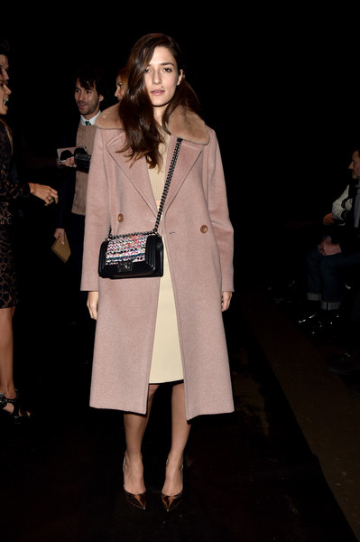 Eleonora Carisi Evening Pumps [show,fashion,clothing,coat,fashion design,outerwear,fashion model,trench coat,fashion show,event,performance,salvatore ferragamo,eleonora carisi,front row,milan,italy,milan menswear fashion week]