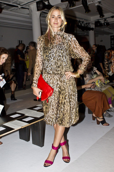 Elisabeth von Thurn und Taxis Print Dress [vogue,fashion model,fashion show,fashion,clothing,runway,fashion design,shoulder,dress,footwear,event,style editor,suno - front row,large elisabeth von thurn und taxis,suno,new york city,milk studios,mercedes-benz fashion week,fashion show]