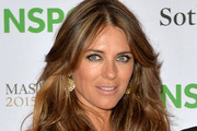 Elizabeth Hurley Feathered Flip
