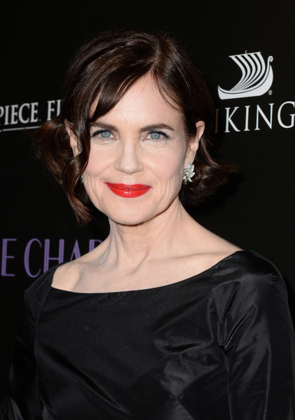Elizabeth McGovern Short Curls [the chaperone,hair,lip,face,hairstyle,eyebrow,skin,chin,beauty,shoulder,cheek,arrivals,elizabeth mcgovern,los angeles,california,linwood dunn theater,premiere of pbs,premiere]