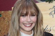 Elizabeth Olsen Long Wavy Cut with Bangs