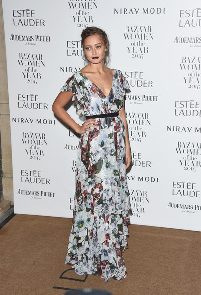Ella Purnell Print Dress