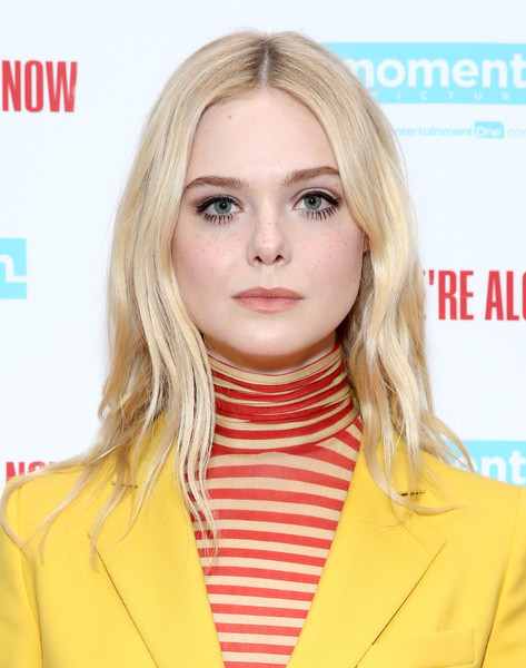 Elle Fanning Long Wavy Cut