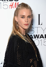 Mary Charteris attended the Elle Style Awards wearing a cute partially braided 'do.