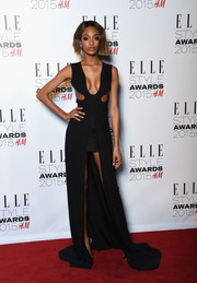 Jourdan Dunn burned up the Elle Style Awards red carpet in a cleavage-and-leg-revealing cutout gown by Tom Ford.