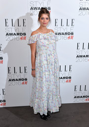 Pixie Geldof went boho in a floral maxi dress for her Elle Style Awards look.