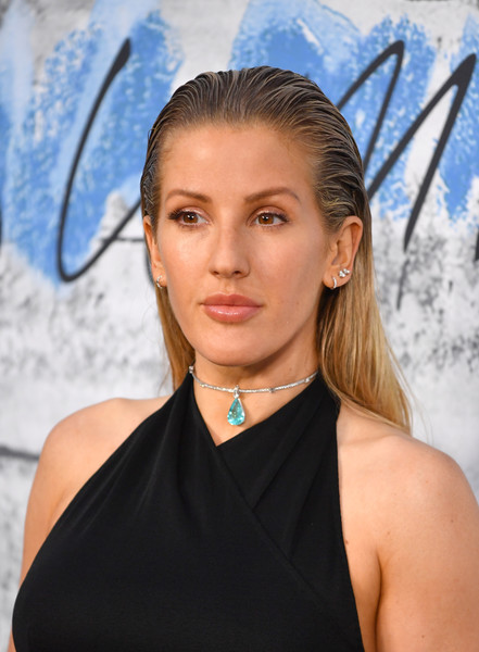Ellie Goulding Long Straight Cut [hair,face,hairstyle,beauty,eyebrow,shoulder,blond,electric blue,lip,neck,ellie goulding,england,london,serpentine galleries,chanel,summer party,red carpet arrivals,the serpentine gallery,the summer party]