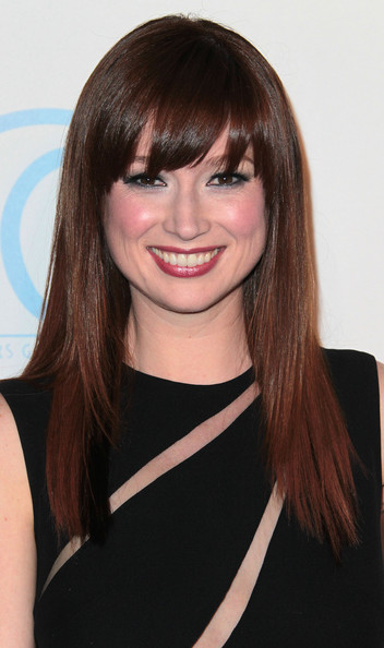 Ellie Kemper Long Straight Cut with Bangs