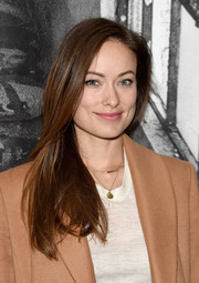 Olivia Wilde attended the New York premiere of 'Ellis' sporting a simple straight 'do.