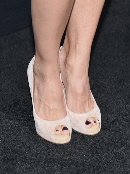 Elodie Yung Peep Toe Pumps