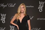 Elsa Hosk One Shoulder Dress
