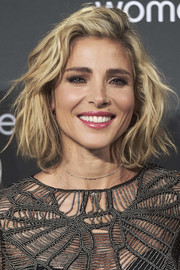 Elsa Pataky was stylishly coiffed with this messy-wavy bob at the Women'secret 'Wanted' event.