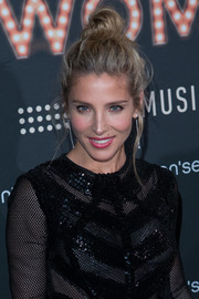 Elsa Pataky attended the presentation of her new Women'Secret musical wearing a messy top knot.