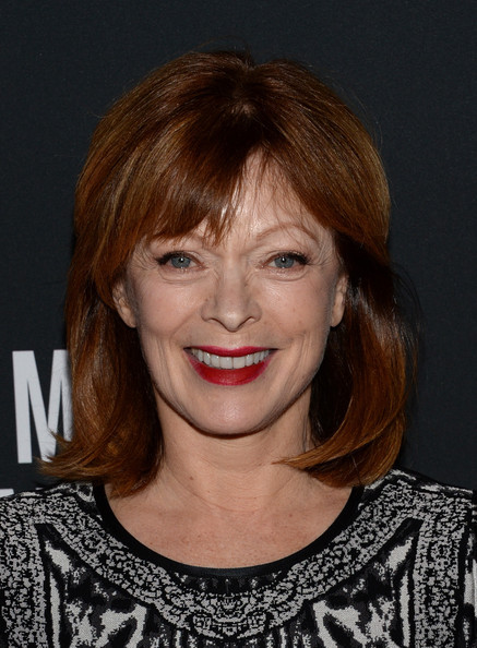 Frances Fisher sported a youthful layered cut with choppy bangs when she attended the Pink Party.