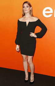 Ashley Greene was a classic beauty in an off-the-shoulder LBD at the Ember launch.