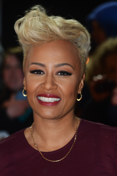 Emeli Sande Fauxhawk [hair,face,eyebrow,hairstyle,blond,lip,forehead,chin,nose,beauty,red carpet arrivals,emeli sande,mobo awards,awards,mobo,echo arena,liverpool,england]
