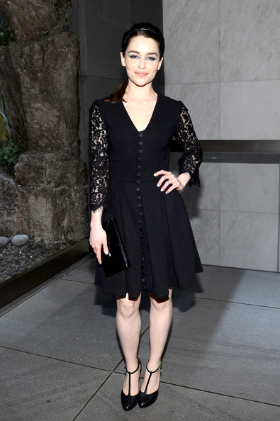 Emilia Clarke Little Black Dress